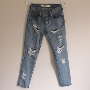 BRANDY MELVILLE Distressed Boyfriend Jeans sz 24